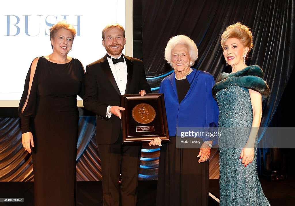 President CEO US Fund for UNICEF Caryl Stern presenter NextGen After Party CoChair Pierce Bush honoree Barbara Bush and presenter Mragaret Alkek...