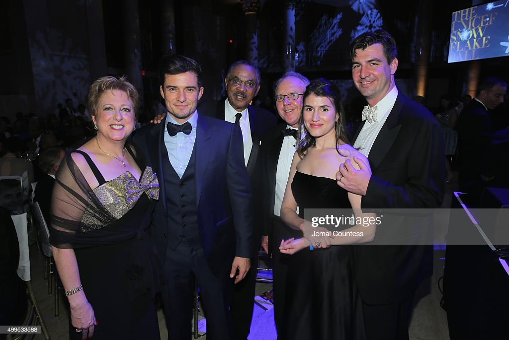 President CEO US Fund for UNICEF Caryl Stern UNICEF Goodwill Ambassador Honoree Audrey Hepburn Humanitarian Award Orlando Bloom Edward G Lloyd Brace...
