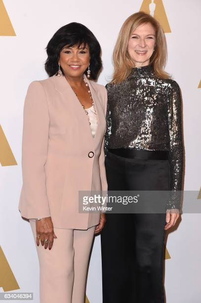 President Cheryl Boone Isaacs and AMPAS CEO Dawn Hudson attend the 89th Annual Academy Awards Nominee Luncheon at The Beverly Hilton Hotel on...