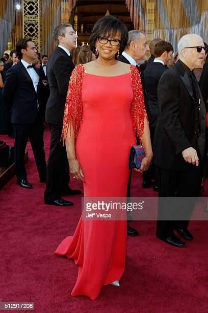 President Cheryl Boone Isaacs attends the 88th Annual Academy Awards at Hollywood Highland Center on February 28 2016 in Hollywood California
