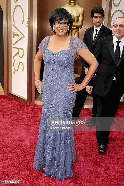 President Cheryl Boone Isaacs attends the Oscars held at Hollywood Highland Center on March 2 2014 in Hollywood California