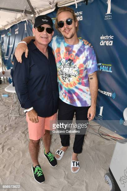 President Chief Content Officer SiriusXM Scott Greenstein and Diplo attend the SiriusXM Music Lounge at 1 Hotel South Beach on March 23 2017 in Miami...