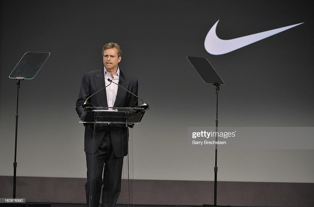 President & Chief Executive Officer, Nike, INC. <a gi-track='captionPersonalityLinkClicked' href=/galleries/search?phrase=Mark+Parker&family=editorial&specificpeople=774822 ng-click='$event.stopPropagation()'>Mark Parker</a> attends the unveiling of a new initiative called 'Let's Move Active Schools' to help schools create a physical activity programs for students at McCormick Place on February 28, 2013 in Chicago, Illinois.