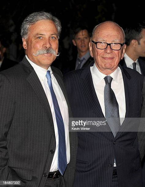 President Chief Operating Officer and Deputy Chairman of News Corporation Chase Carey and Chairman and CEO of News Corporation Rupert Murdoch attend...