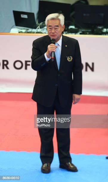 President Cho of Para Taekwondo during 7th World Para Taekwondo Championships 2017 at Copper Box Arena London on 19 Oct 2017