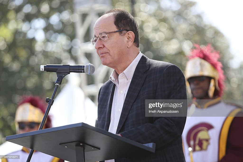 President C.L. Max Nikias speaks onstage at the 18th Annual LA Times Festival Of Books at USC on April 20, 2013 in Los Angeles, California.