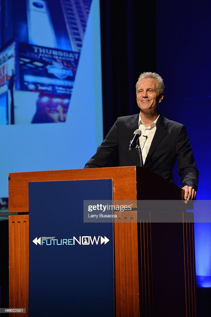President Clear Channel Entertainment Enterprises John Sykes speaks onstage at FutureNOW at the Museum of Jewish Heritage on May 9 2014 in New York...