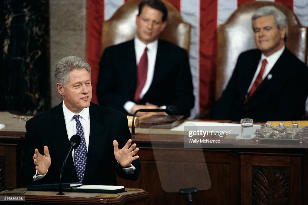 an analysis of president clintons state of the union address Since he became president during his address to a joint session of  about an  hour (president clinton holds the record for the longest sotu,.