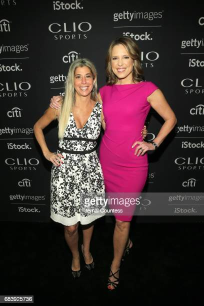 President Clio Awards Nicole Purcell and Anchor ESPN's SportsCenter Face to Face Clio Sports Host Hannah Storm attend 2017 Clio Sports Awards at...
