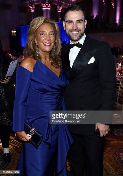 President CoFounder of Gabrielle's Angel Foundation Denise Rich and Rubin Singer attend Angel Ball 2015 hosted by Gabrielle's Angel Foundation at...