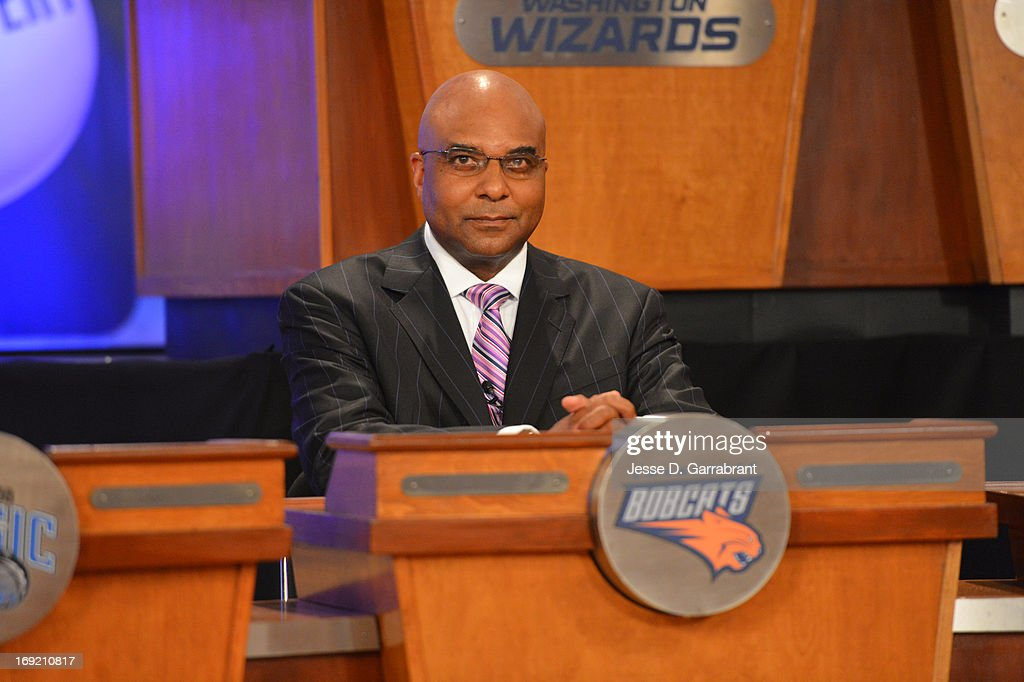 President & COO Fred Whitfield of the Charlotte Bobcats during the 2013 NBA Draft Lottery on May 21, 2013 at the ABC News' 'Good Morning America' Times Square Studio in New York City.