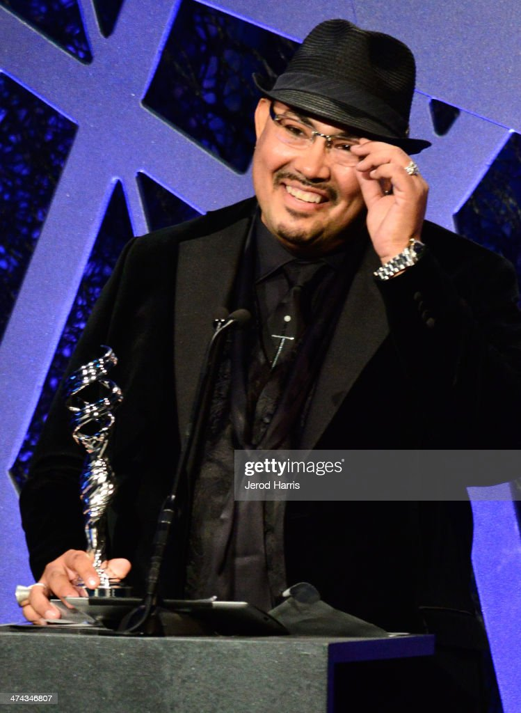 President, Costume Designer's Guild Local 892, Salvador Perez Jr. speaks onstage during the 16th Costume Designers Guild Awards with presenting sponsor Lacoste at The Beverly Hilton Hotel on February 22, 2014 in Beverly Hills, California.