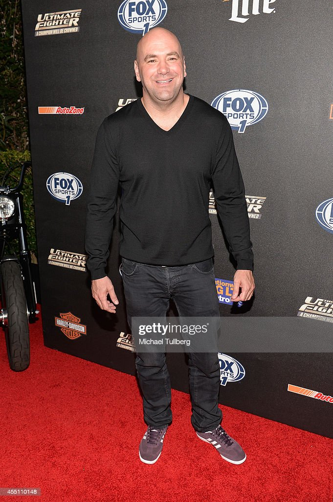 President <a gi-track='captionPersonalityLinkClicked' href=/galleries/search?phrase=Dana+White&family=editorial&specificpeople=977217 ng-click='$event.stopPropagation()'>Dana White</a> attends FOX Sports 1's 'The Ultimate Fighter' Season Premiere Party at Lure on September 9, 2014 in Hollywood, California.