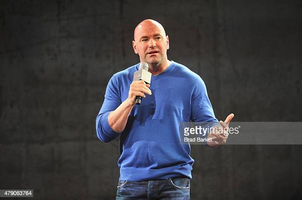 President Dana White speaks the Launch Of The Reebok UFC Fight Kit at Skylight Modern on June 30 2015 in New York City