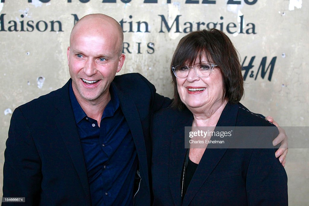 President Daniel Kulle (L) and H&M Creative director Margareta van den Bosch attend the Maison Martin Margiela & H&M Global launch party at 5 Beekman on October 23, 2012 in New York City.