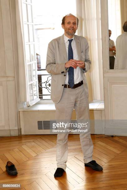 President de l'Academie des Molieres JeanMarc Dumontet with Injured foot attends the 'Caisse d'Epargne IleDeFrance' supports the Ceremony of the...