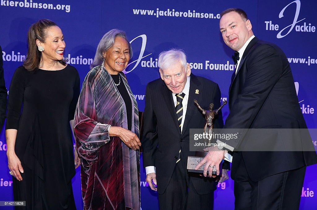 President Della Britton Baeza Founder Rachel Robinson Ambassador Dan Rooney and CEO of Legendary Entertainment Thomas Tull attend 2016 Jackie...
