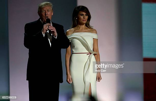 President Donald Trump and First Lady Melania Trump attend the Liberty Inaugural Ball on January 20 2017 in Washington DC The Liberty Ball is the...