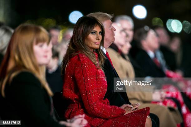 S President Donald Trump and first lady Melania Trump participate in the 95th annual national Christmas tree lighting ceremony held by the National...