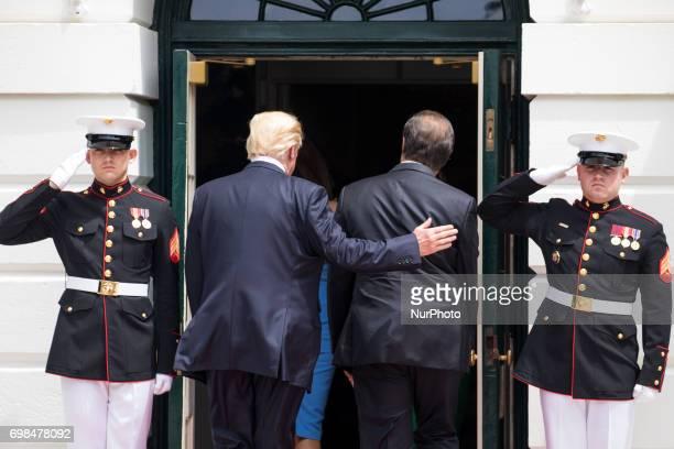 President Donald Trump and First Lady Melania Trump welcomed President Juan Carlos Varela and Mrs Lorena Castillo Varela of Panama at the South...