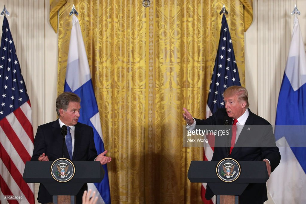 President Trump Holds Joint News Conference With President Of Finland