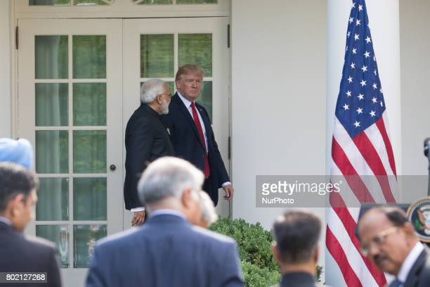President Donald Trump and Prime Minister Narendra Modi of India held a joint press conference in the Rose Garden of the White House on Monday June...