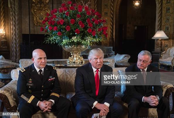 US President Donald Trump announces US Army Lieutenant General HR McMaster as his national security adviser and Keith Kellogg as McMaster's chief of...