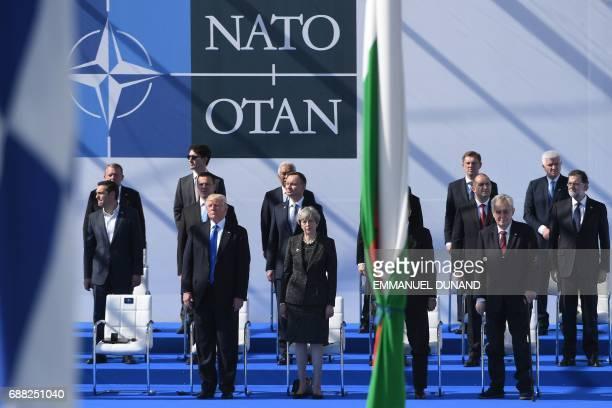 US President Donald Trump Britain's Prime Minister Theresa May Czech President Milos Zeman Greek Prime Minister Alexis Tsipras Estonia's Prime...