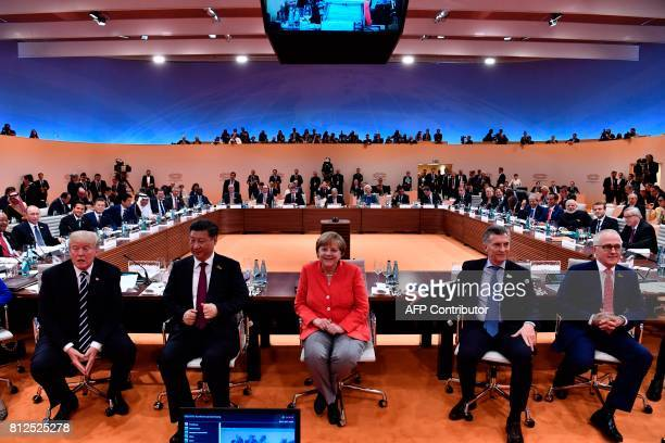 US President Donald Trump China's President Xi Jinping German Chancellor Angela Merkel Argentinia's President Mauricio Macri and Australia's Prime...