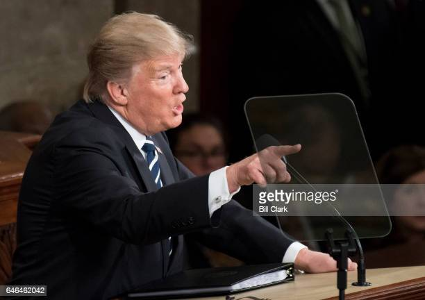 President Donald Trump deliver his address to a joint session of Congress on Tuesday Feb 28 2017