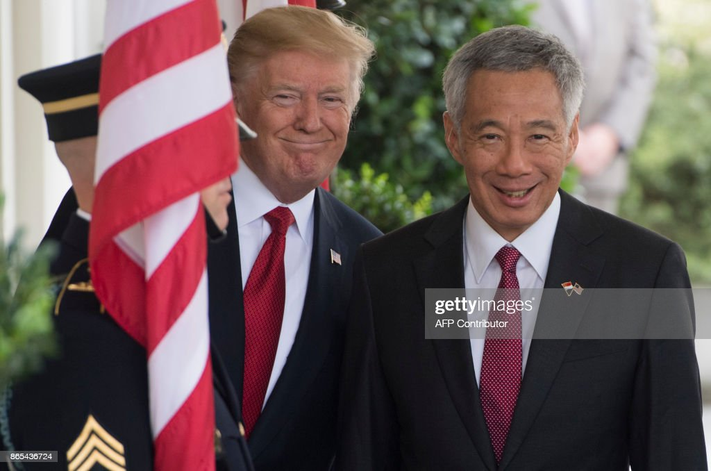 President Trump Welcomes Singapore PM Lee Hsien Loong To White House