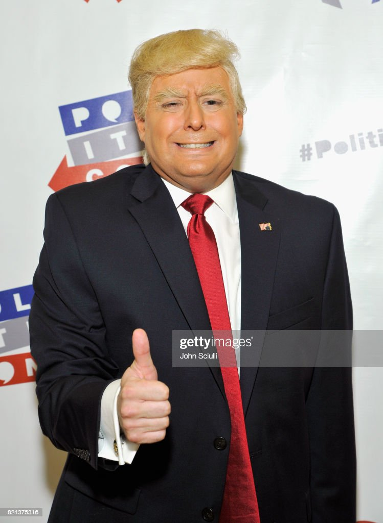 President Donald Trump impersonator, Anthony Atamanuik at Politicon at Pasadena Convention Center on July 29, 2017 in Pasadena, California.