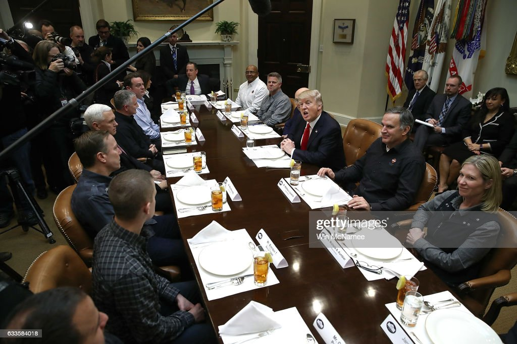president trump has lunch with harley davidson executives and