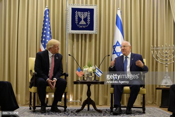US President Donald Trump meets with Israeli President Reuven Rivlin in Jerusalem on May 22 2017