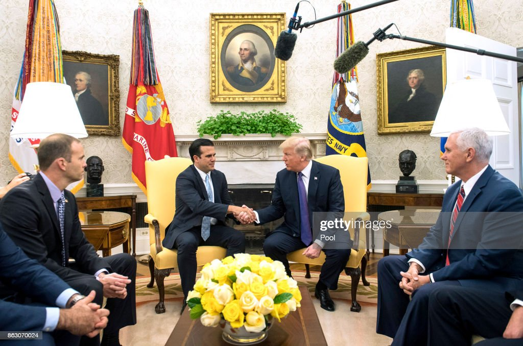 President Trump Meets With Governor Ricardo Rossello of Puerto Rico
