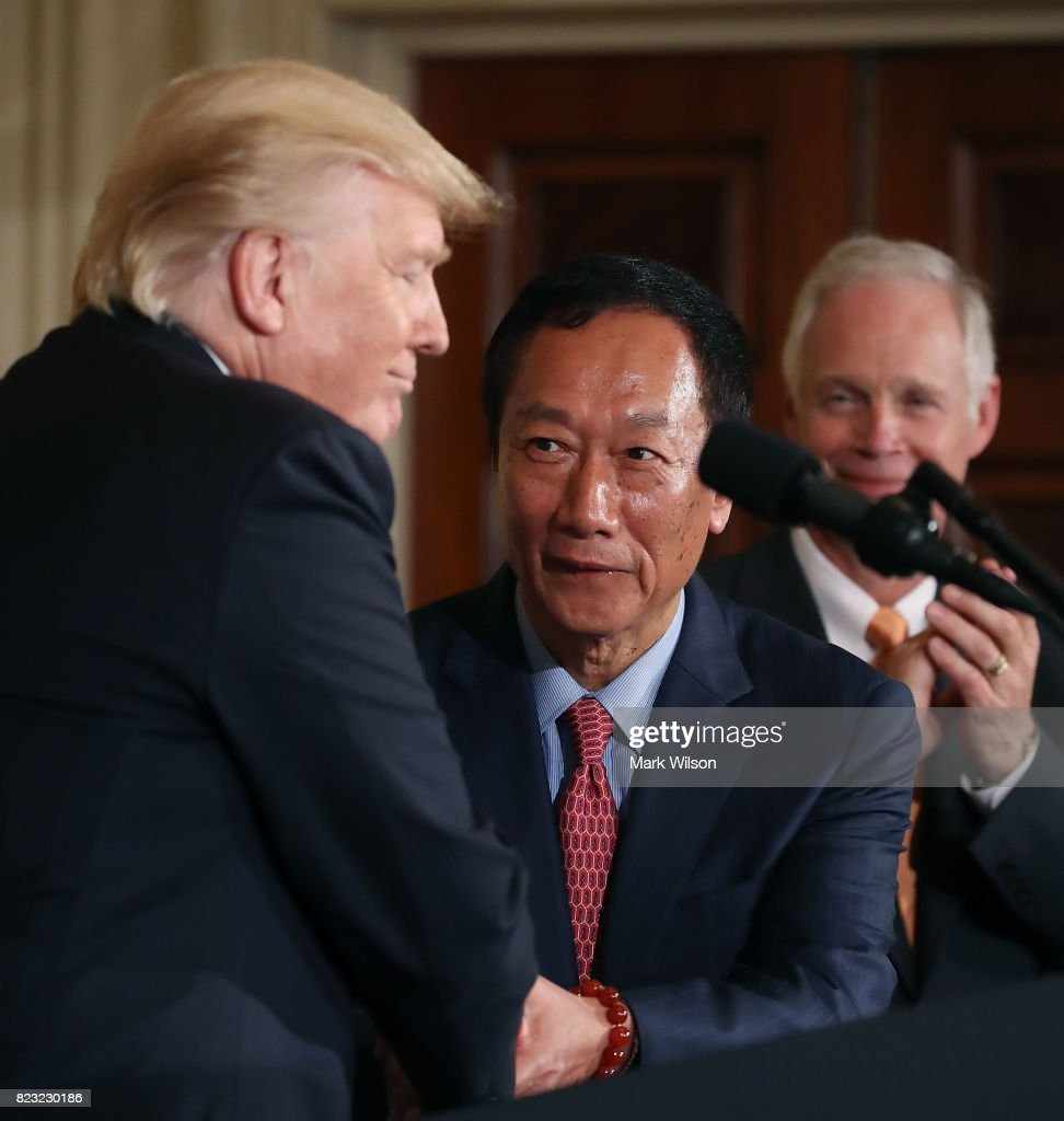 President Trump Announces Apple-Supplier Foxconn To Build Manufacturing In Wisconsin