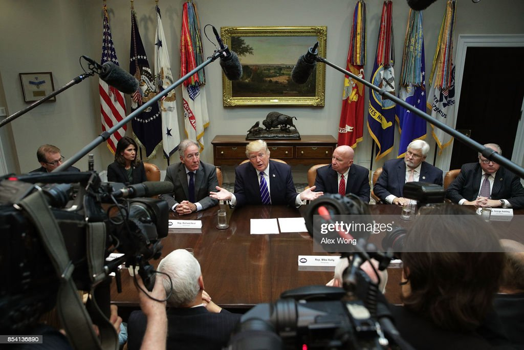 President Trump Meets With Members Of House Ways And Means Committee
