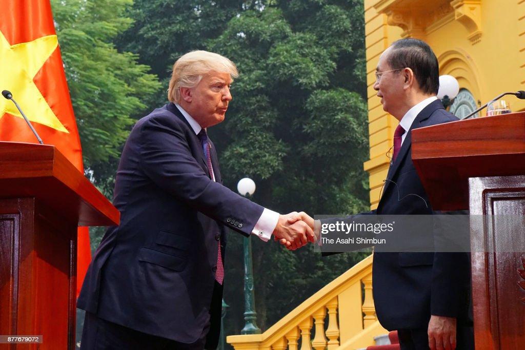 US President Donald Trump Visits Vietnam