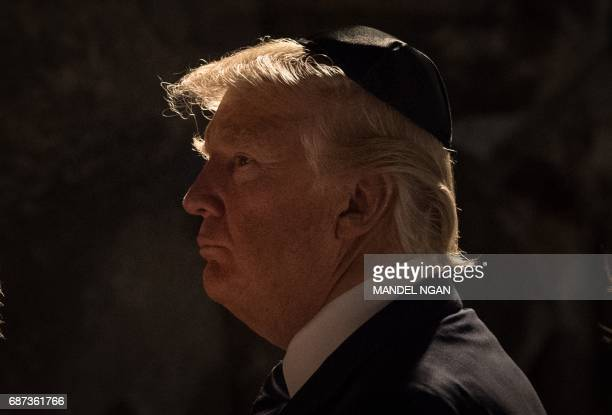 US President Donald Trump visits the Yad Vashem Holocaust Memorial museum commemorating the six million Jews killed by the Nazis during World War II...