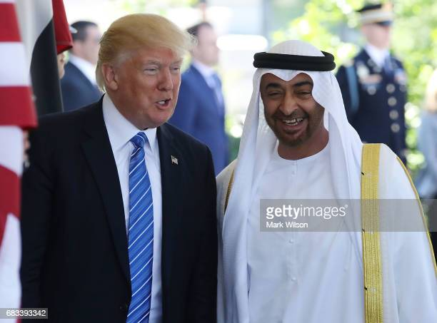 S President Donald Trump welcomes Crown Prince Shaikh Mohammad bin Zayed Al Nahyan of Abu Dhabi for a meeting in the Oval Office of the White House...