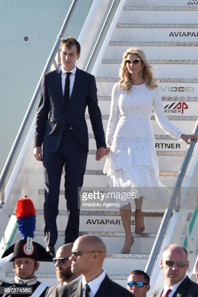 President Donald Trump's daughter Ivanka Trump arrives at Fiumicino airport in Rome Italy on May 23 2017