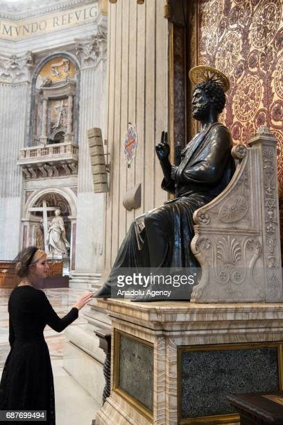 US President Donald Trump's daughter Ivanka Trump is seen during her visit at the Sistine Chapel in Vatican City on May 24 2017