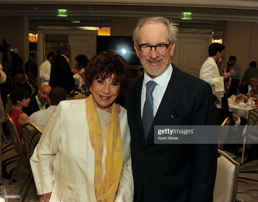 President Dr. Aida Takla-O'Reilly and director <a gi-track='captionPersonalityLinkClicked' href=/galleries/search?phrase=Steven+Spielberg&family=editorial&specificpeople=202022 ng-click='$event.stopPropagation()'>Steven Spielberg</a> attend the Hollywood Foreign Press Association's 2012 Installation Luncheon held at the Beverly Hills Hotel on August 9, 2012 in Beverly Hills, California.