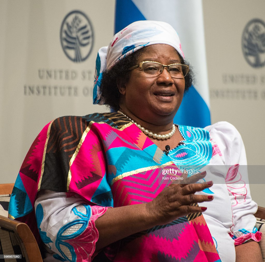 President Dr Joyce Banda of Malawi speaks at an event regarding important conversation on the link between good governance and increasing prosperity...
