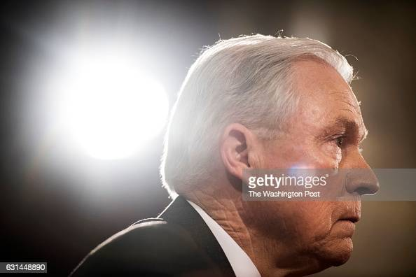 WASHINGTON DC President Elect Donald Trump's pick for Attorney General Senator Jeff Sessions testifies at his confirmation hearing before the Senate...
