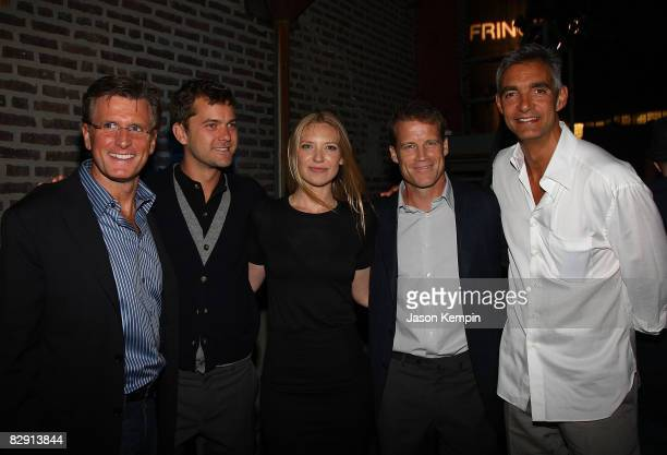 President Entertainment FBC Kevin Reilly actosr Joshua Jackson Anna Torv Mark Valley and Chairmen Entertainment FBC Peter Ligouri attend 'Fringe' New...