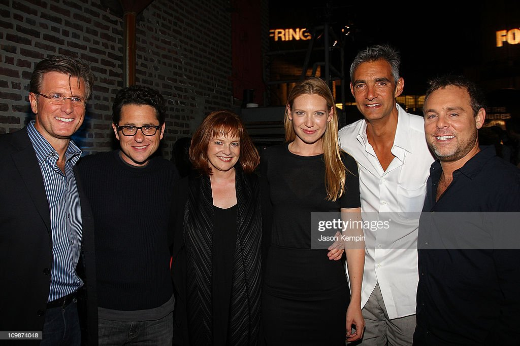 President, Entertainment, FBC, <a gi-track='captionPersonalityLinkClicked' href=/galleries/search?phrase=Kevin+Reilly&family=editorial&specificpeople=224700 ng-click='$event.stopPropagation()'>Kevin Reilly</a>, Co-Creator and Executive Producer <a gi-track='captionPersonalityLinkClicked' href=/galleries/search?phrase=J.J.+Abrams&family=editorial&specificpeople=253632 ng-click='$event.stopPropagation()'>J.J. Abrams</a>, actress <a gi-track='captionPersonalityLinkClicked' href=/galleries/search?phrase=Blair+Brown+-+Actress&family=editorial&specificpeople=705807 ng-click='$event.stopPropagation()'>Blair Brown</a>, <a gi-track='captionPersonalityLinkClicked' href=/galleries/search?phrase=Anna+Torv+-+Actress&family=editorial&specificpeople=5346281 ng-click='$event.stopPropagation()'>Anna Torv</a>, Chairmen, Entertainment, FBC Peter Ligouri and Executive Producer Bryan Burk attend Fringe New York premiere party at The Xchange on August 25, 2008 in New York City.