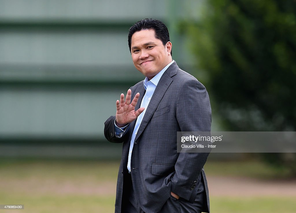 President Erick Thohir Before Fc Internazionale Training Session At Picture