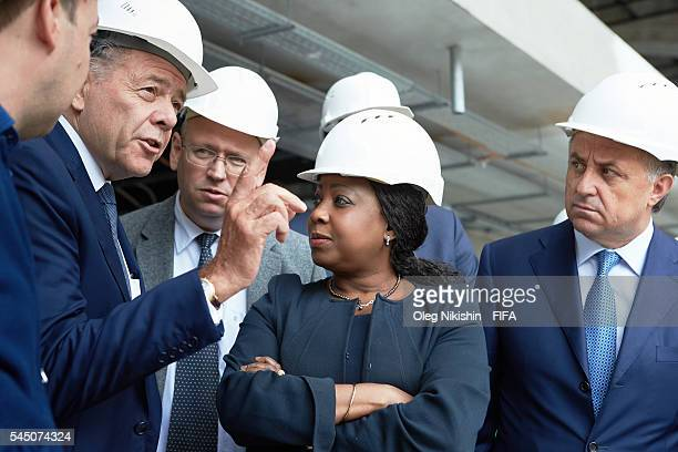 President Fatma Samoura and Russia's Sport Minister Vitaly Mutko inspect Luzhniki stadium after FIFA 2018 World Cup Local Organising Committee...