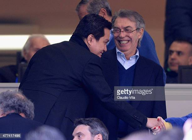 President FC Inter Milan Erick Thohir and Massimo Moratti before the Serie A match between FC Internazionale Milano and Torino FC at San Siro Stadium...